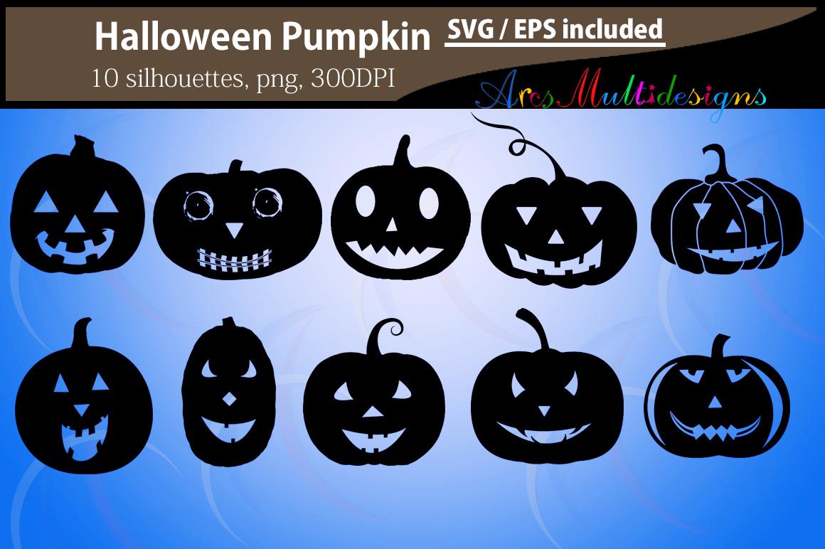 Pumpkin silhouettes SVG / Printable Halloween pumpkin EPS / Halloween day clipart / Pumpkin / HQ silhouettes PNG vector / pumpkin svg example image 1