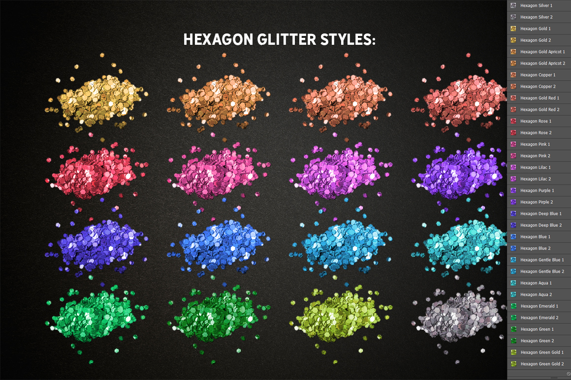 Realistic Glitter Effect TOOLKIT example image 3