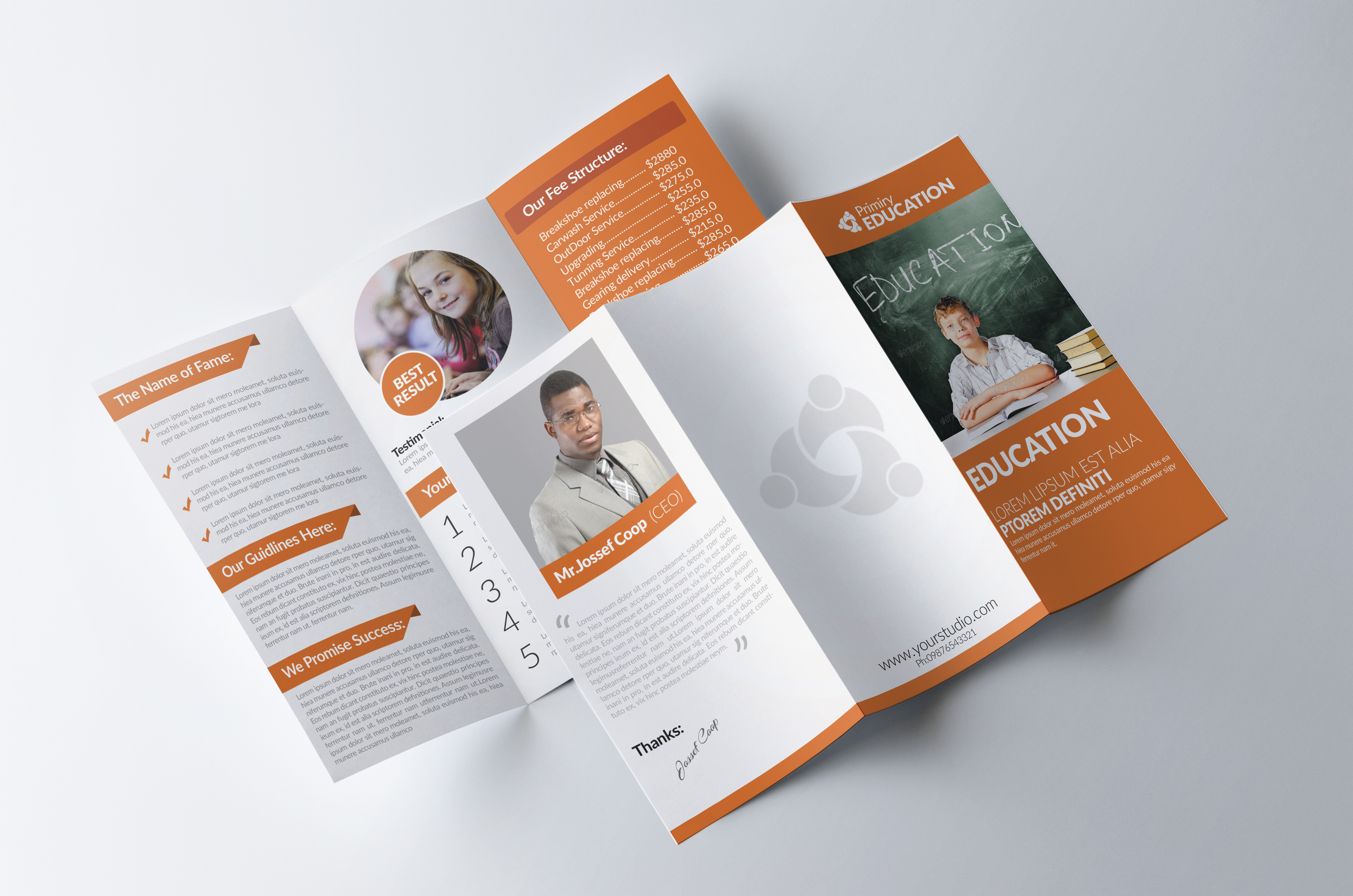 Kids Education Trifold Brochures example image 3