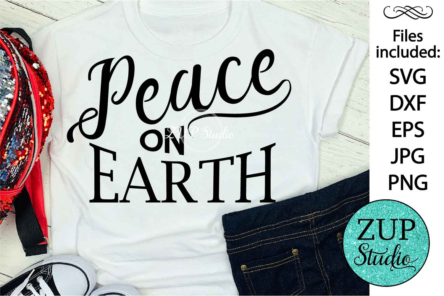 Peace on Earth cutting files svg 26 example image 1