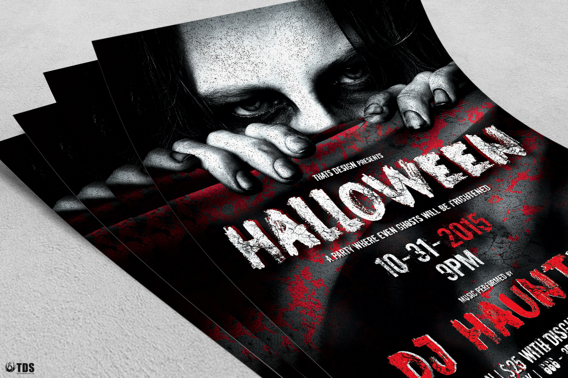 Halloween Flyer Template V5 example image 5