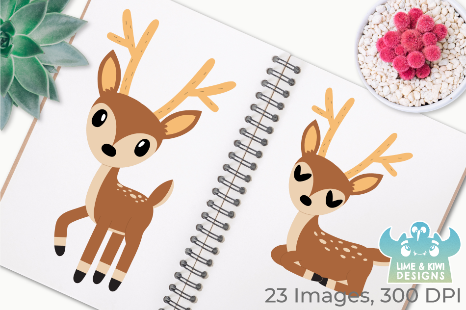 Bucks Clipart, Instant Download Vector Art, Commercial Use example image 3