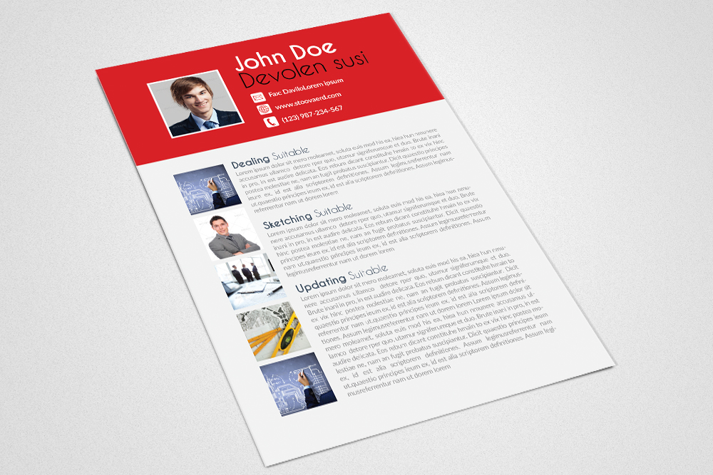 Resume Cv Word Template example image 3
