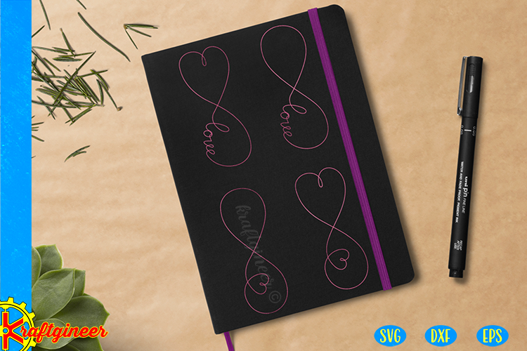 Infinity Love Single Line SVG | Single Line SVG |Foil Quill example image 3