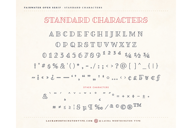 Fairwater Open Serif example image 7