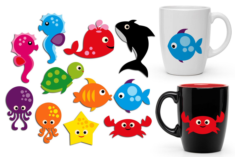Sea animals, bugs, wild animals clip art - Graphics Bundle example image 4
