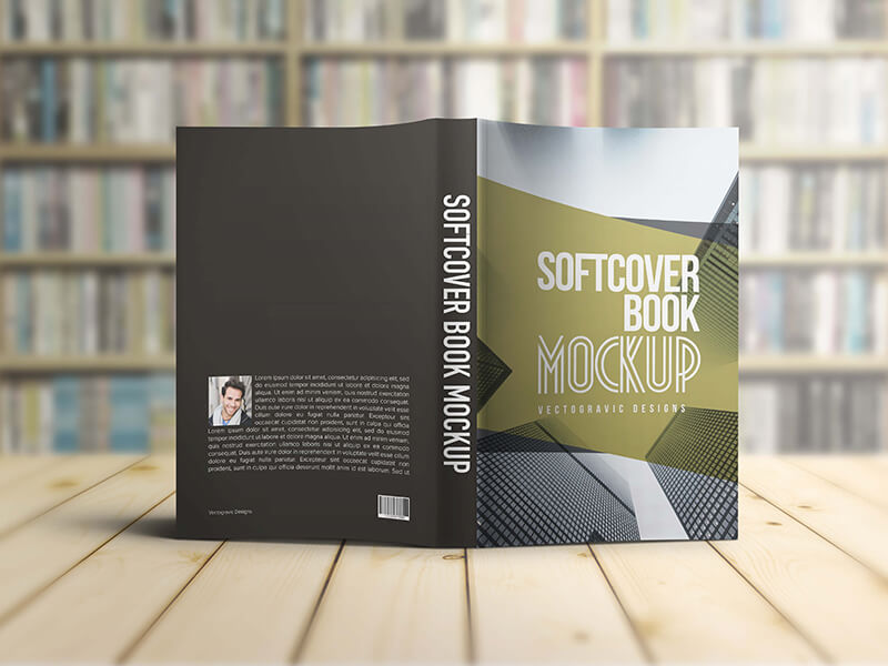 Softcover Book Mockups example image 3