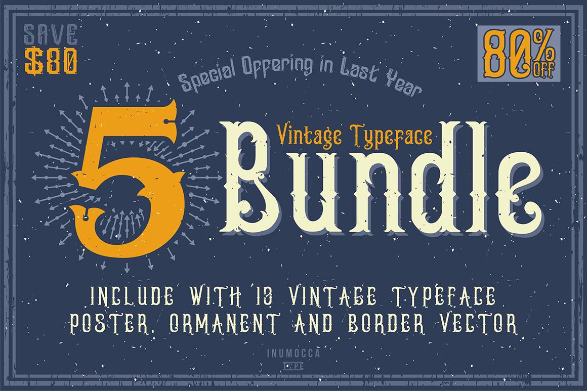 5 Typeface vintage bundle example image 11