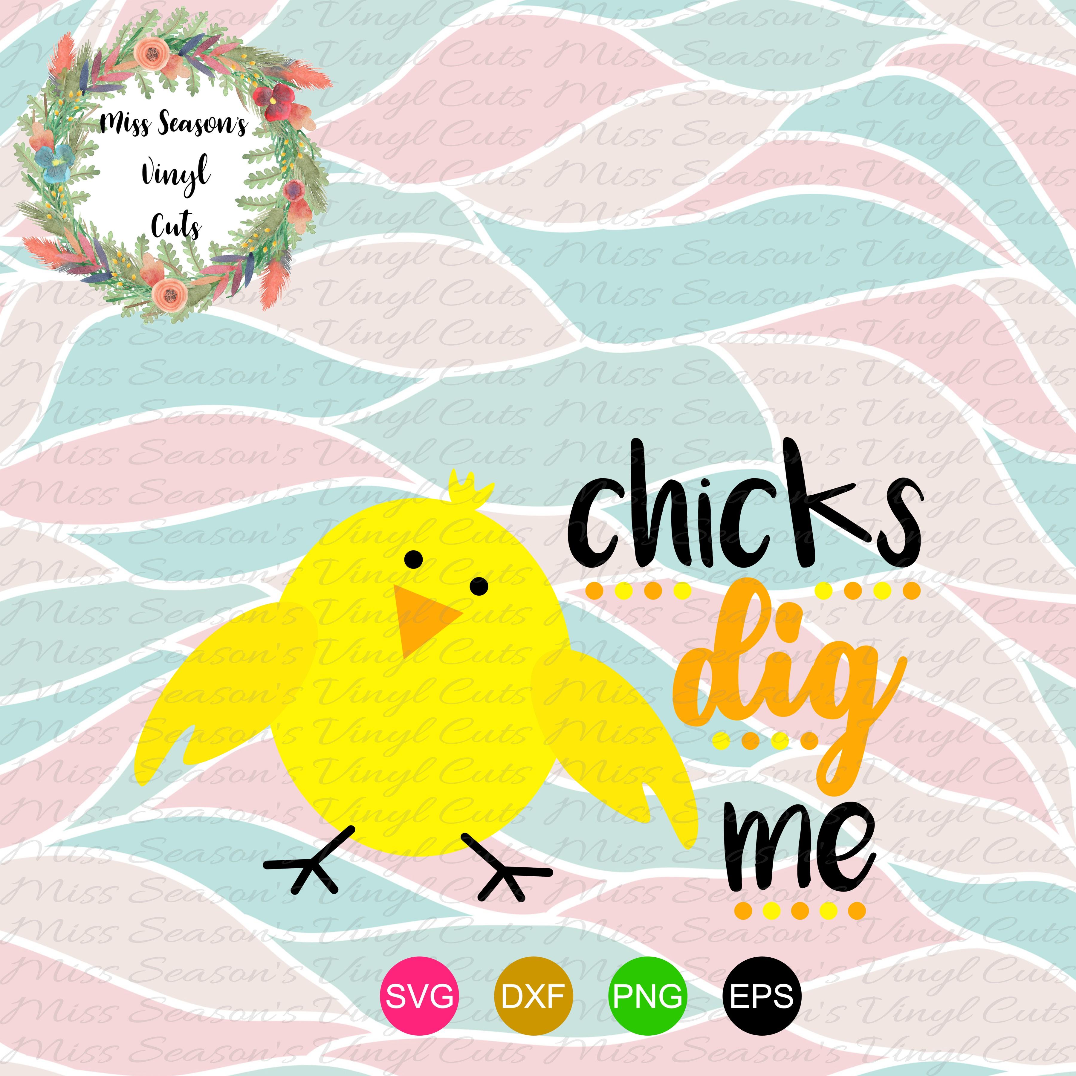Chicks Dig Me SVG  example image 1