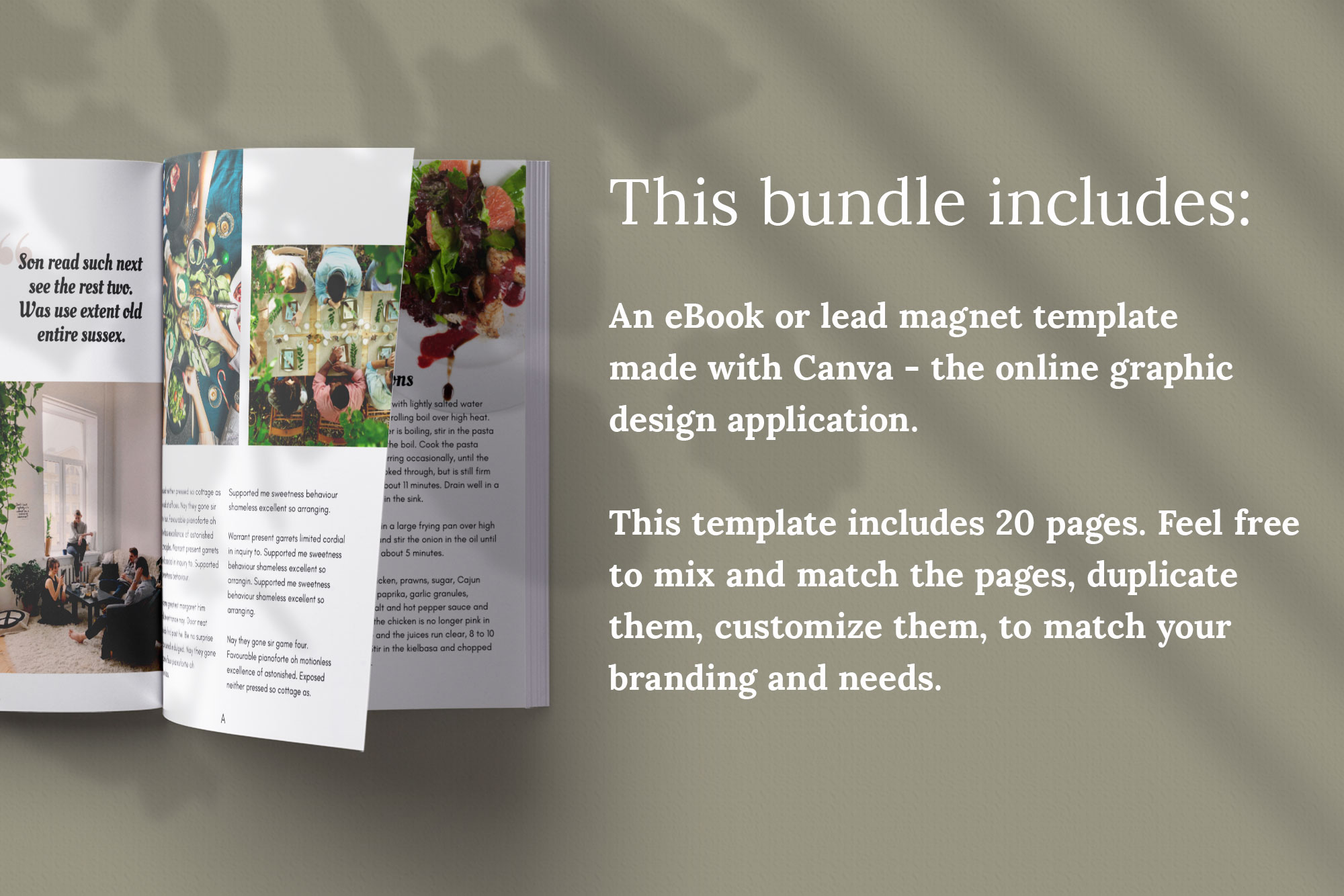 eBook or Lead Magnet Canva Template | Gathering example image 2