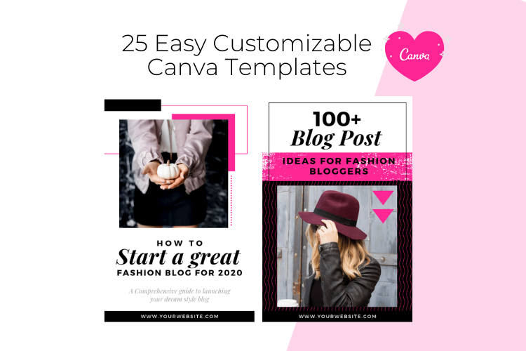 Fashion Blogger Pinterest Templates for Canva example image 2