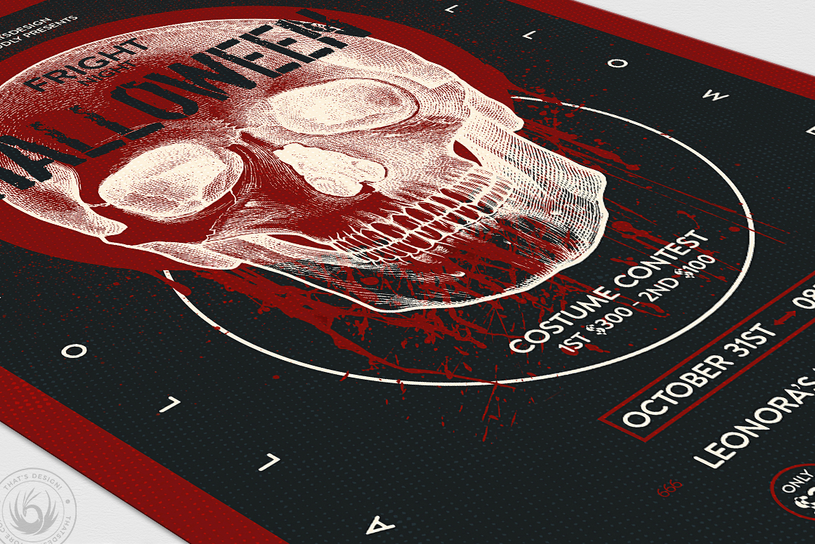 Halloween Flyer Template V25 example image 6