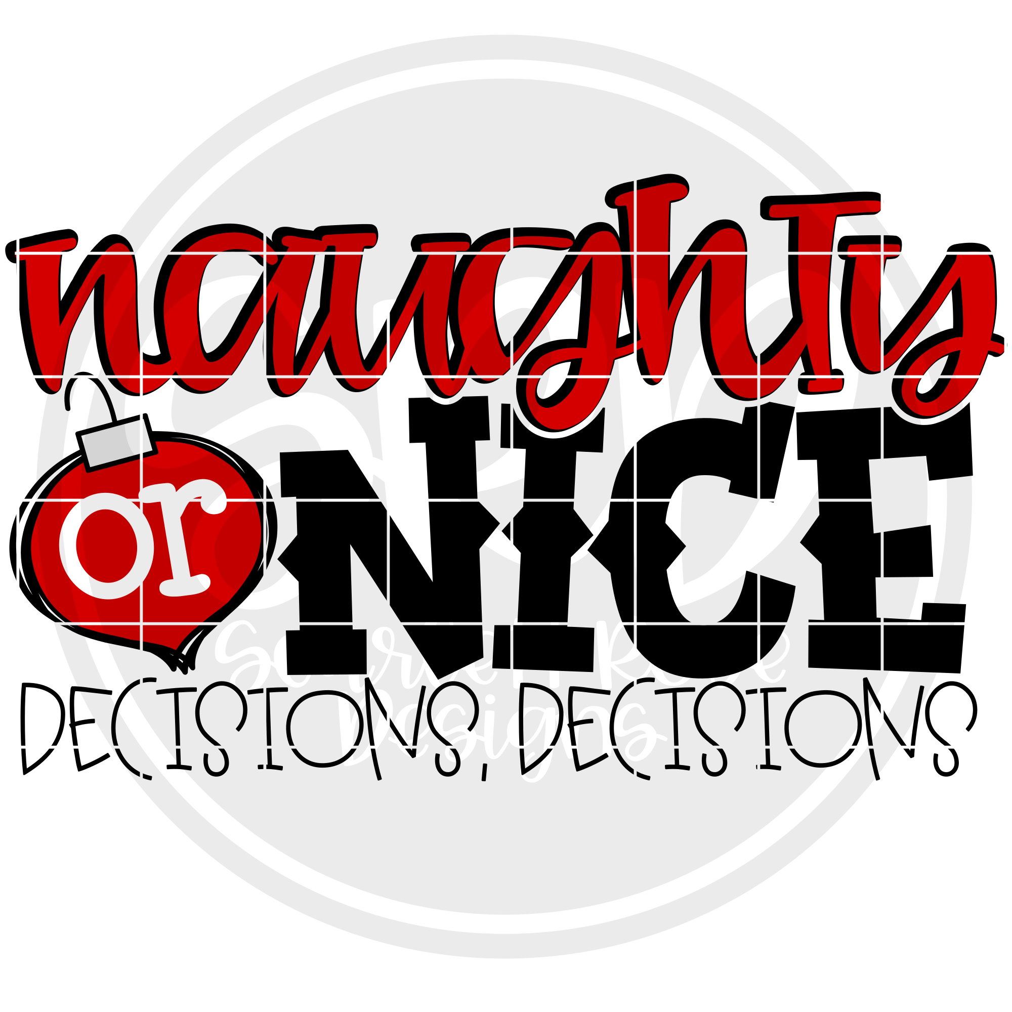 Naughty or Nice Decision Decisions - Color SVG example image 2