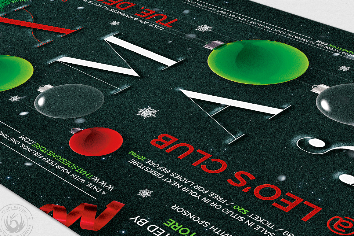 Christmas Eve Flyer Template V13 example image 6