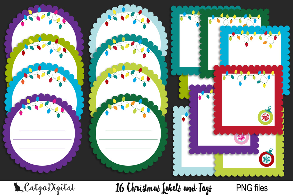 Christmas Labels and Tags example image 1
