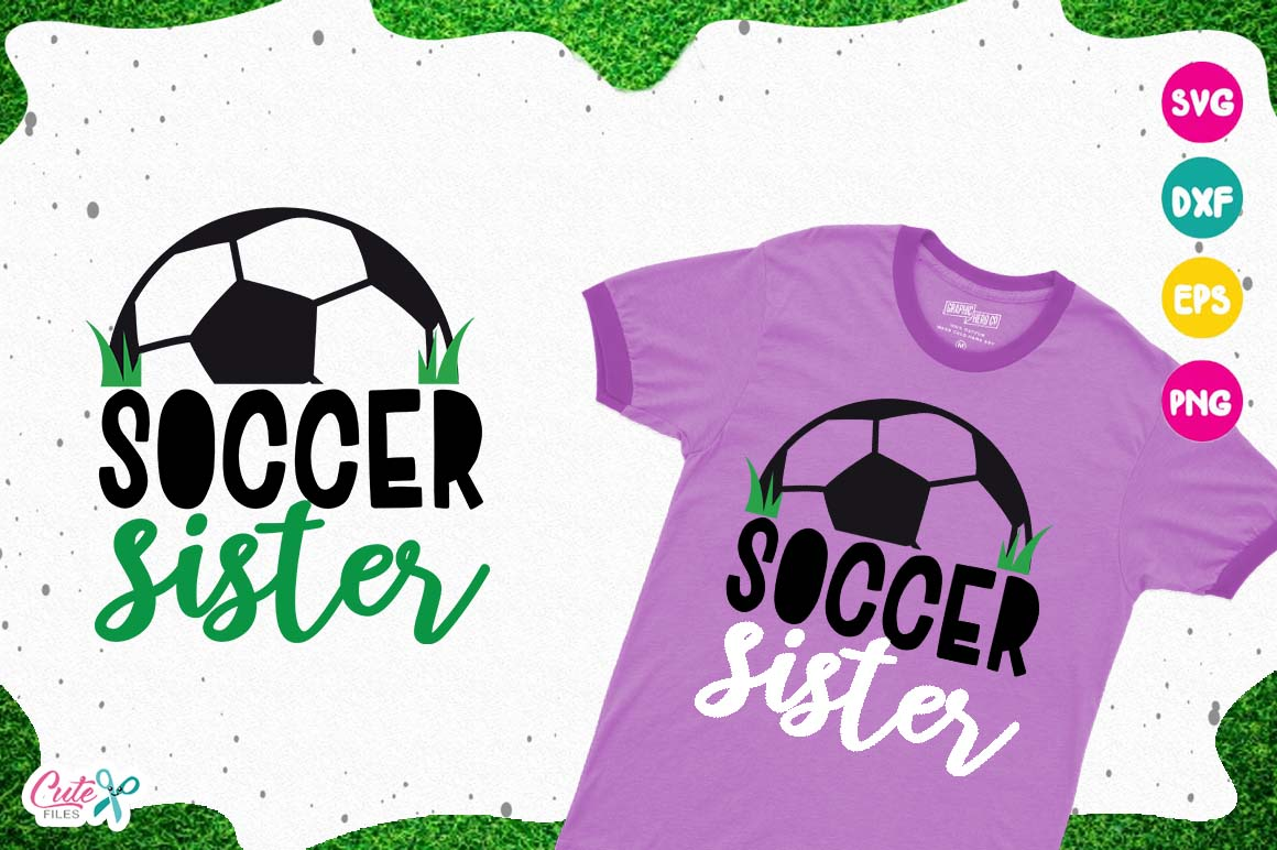 Soccer sister, sport cut files for craftter example image 1