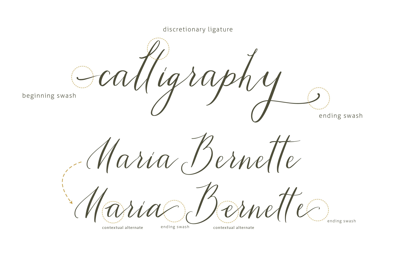 Tiara / modern calligraphy script example image 3