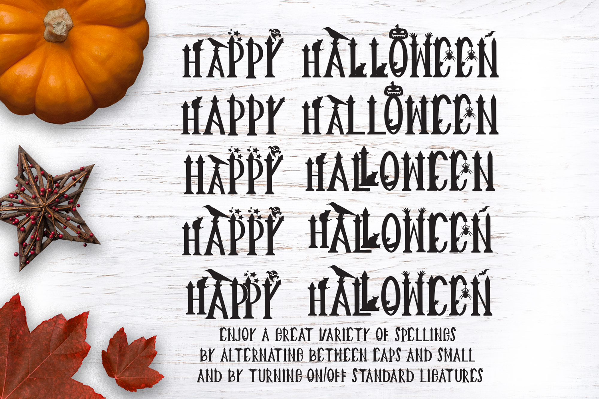 Creepy Halloween Font example image 4