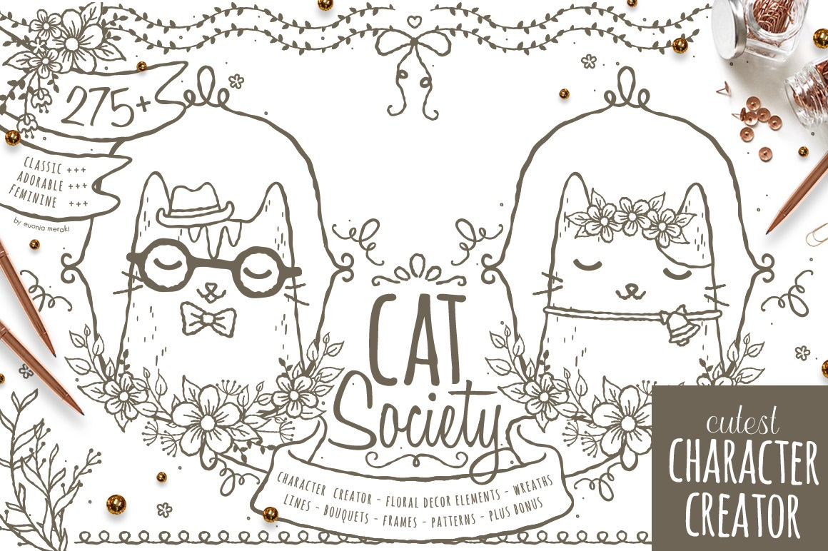 Cat Society - Cutest Character Creator example image 1