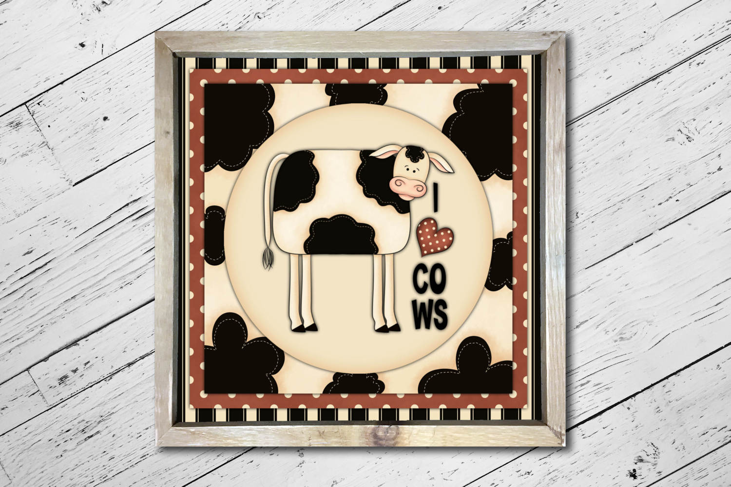 Cow Square Print example image 3