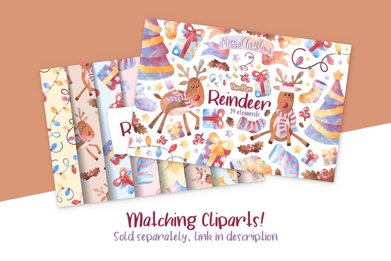 Reindeer Digital Papers example image 3