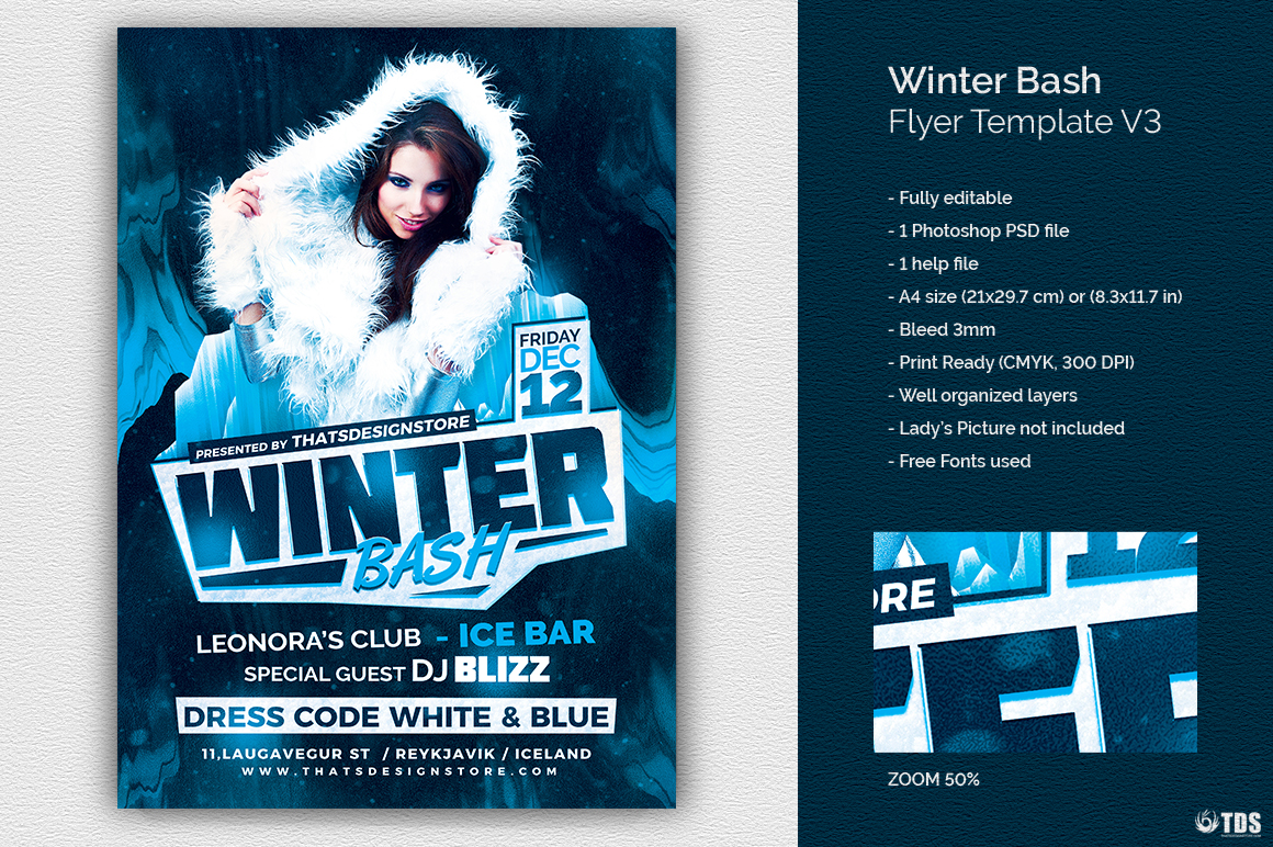 Winter Bash Flyer Template V3 example image 1