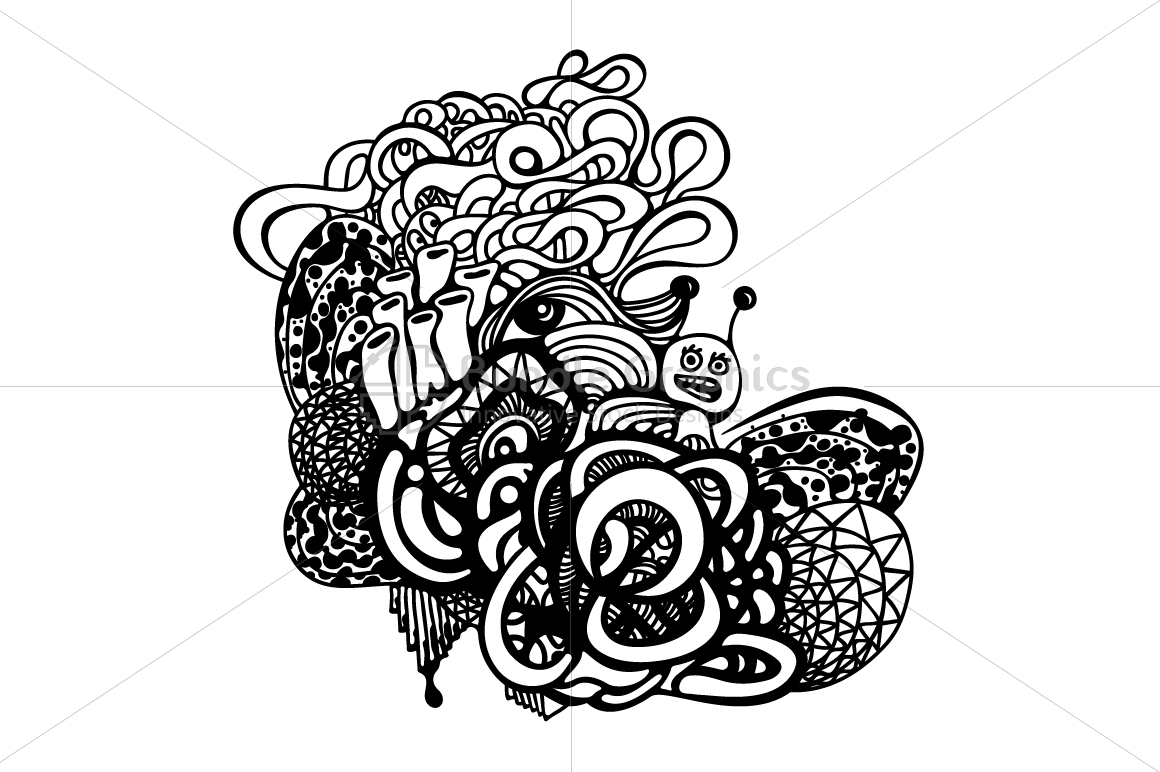 Snail Graffiti Vector Graphic Composition example image 2