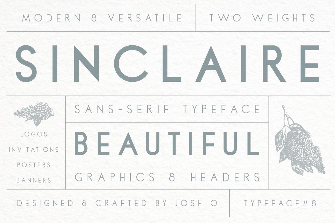 Sinclaire | A Classic Sans Serif example image 1