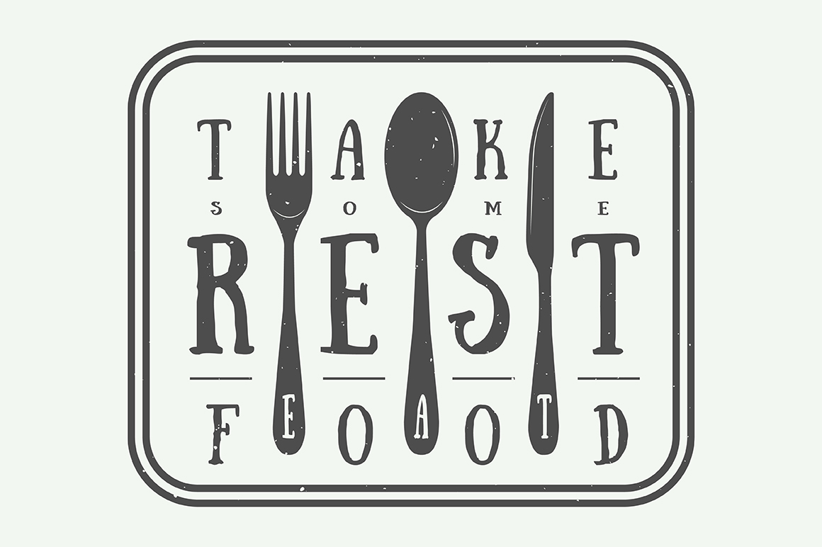 Vintage Restaurant Emblems Bundle example image 4