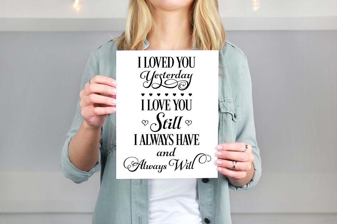 Love Quotes Bundle - Valentine SVG Cut Files example image 8