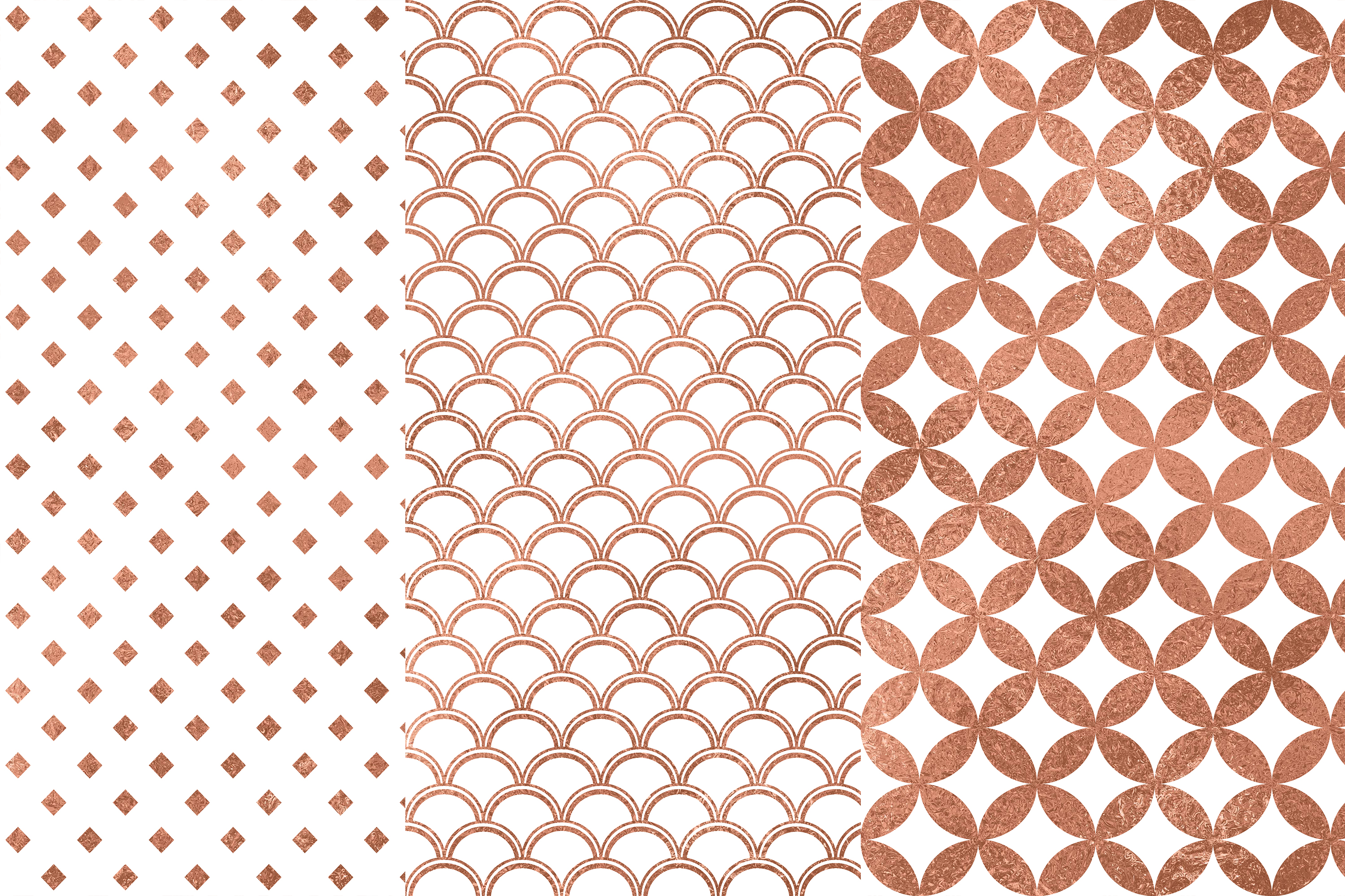 Rose Gold Seamless Pattern, Rose Gold Wedding Patterns, Gold example image 2