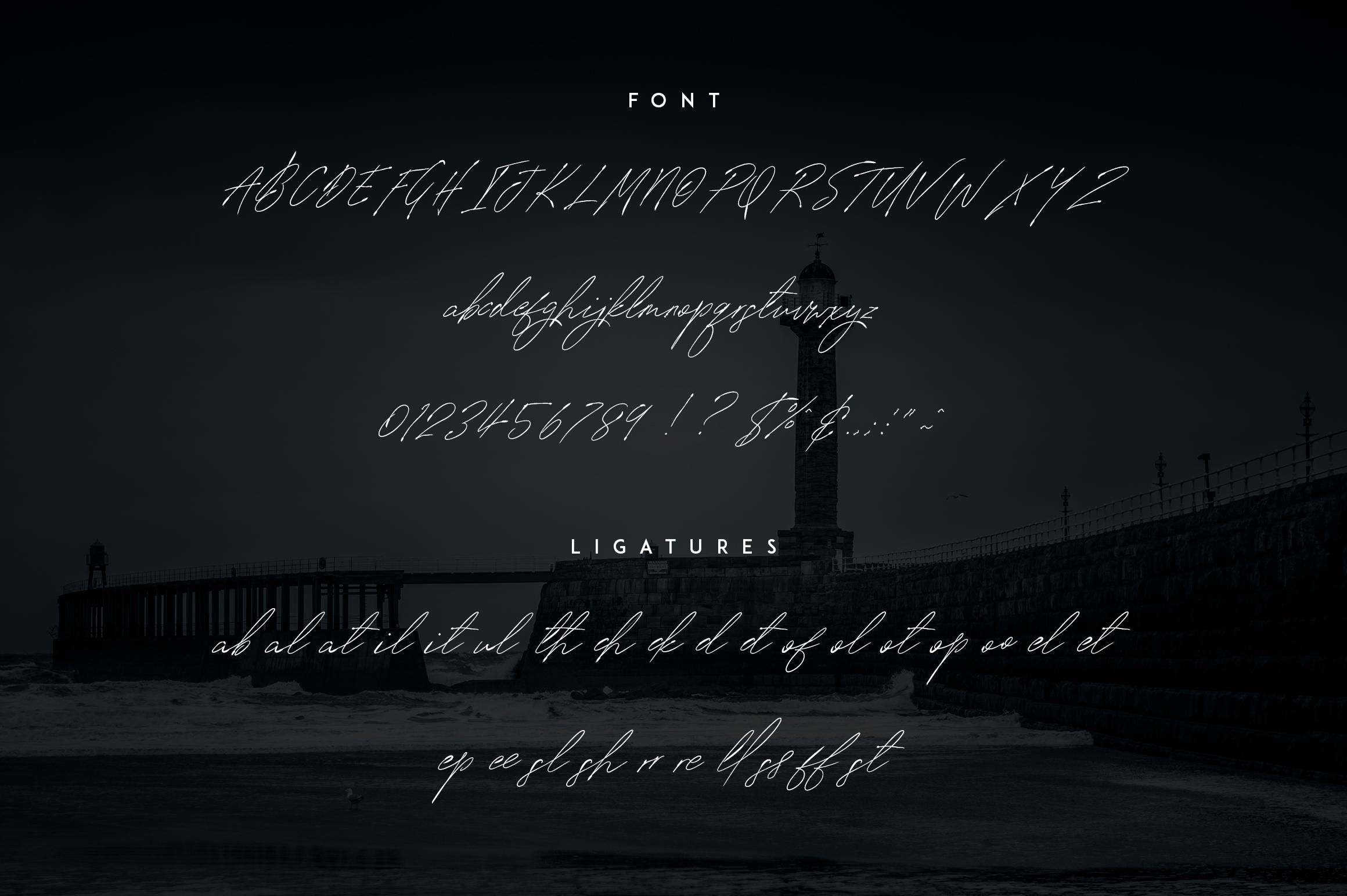 Signature vp - Handwritten font example image 13