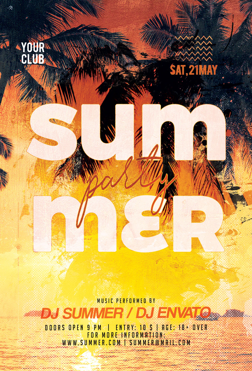 Summer Party Flyer example image 3