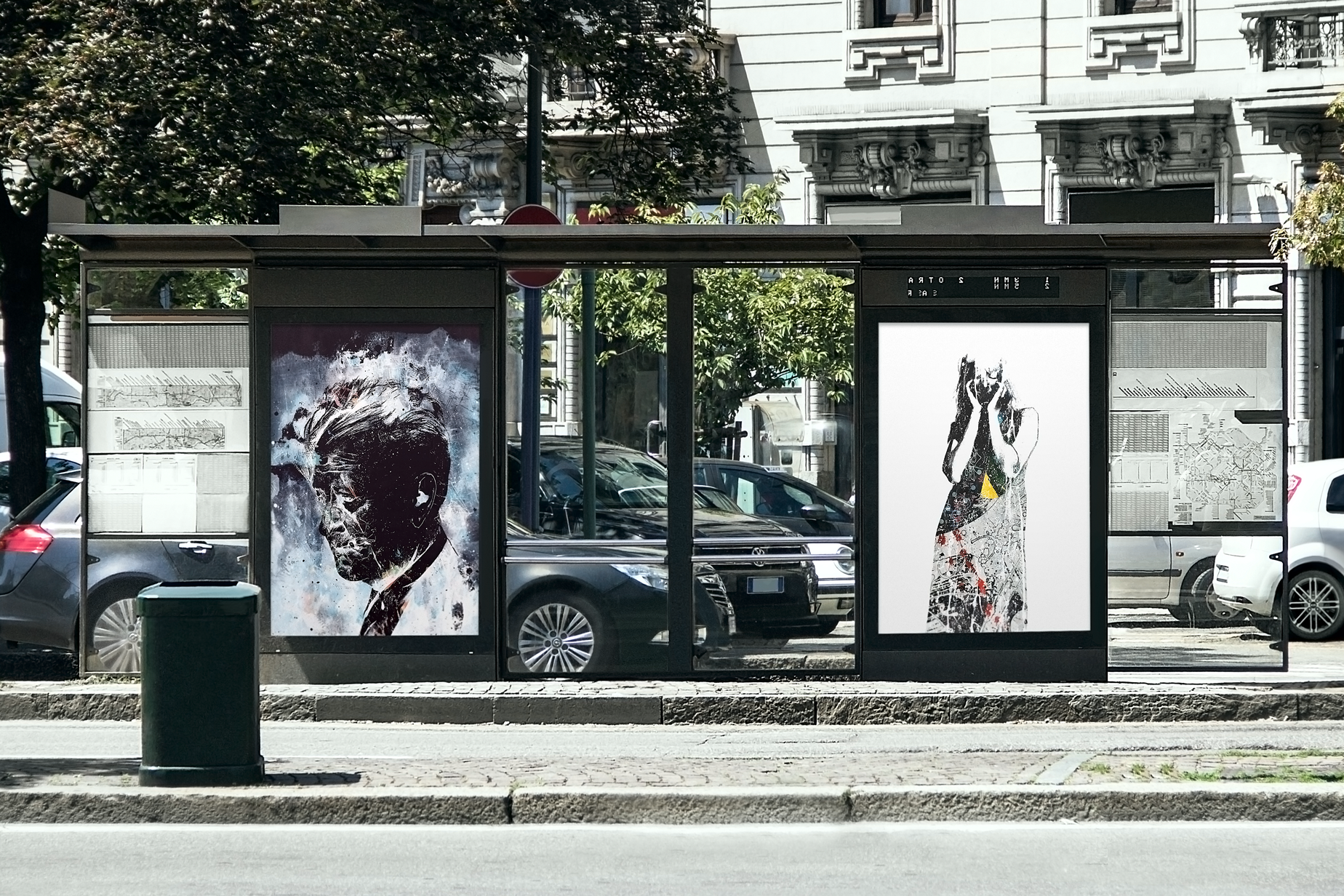 Bundle of Urban Outdoor Advertising Poster Mock-ups example image 3