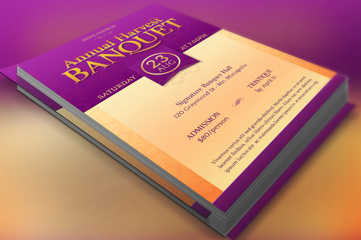 Harvest Banquet Flyer Template example image 1