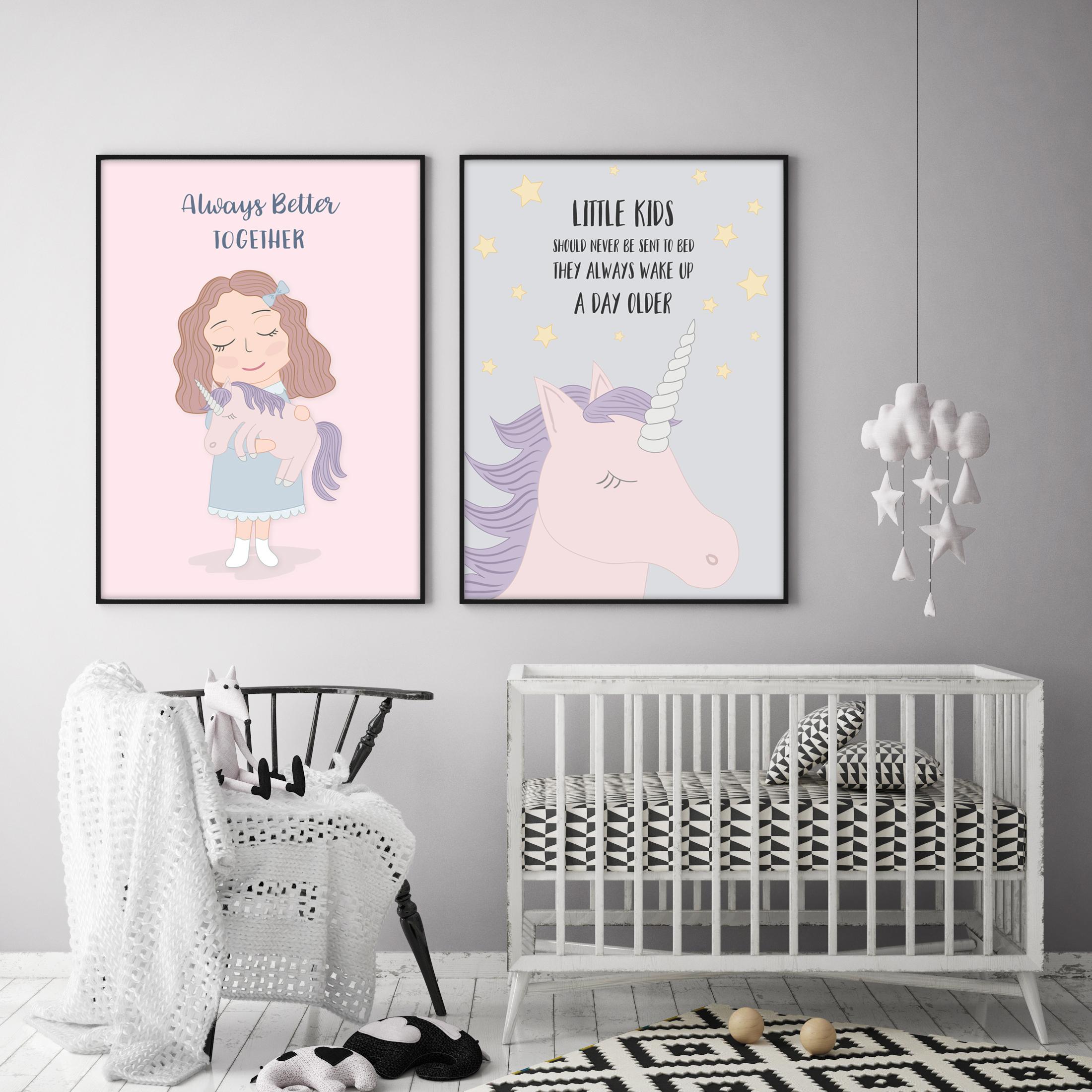 Cute Funny Unicorn Illustration Set example image 4