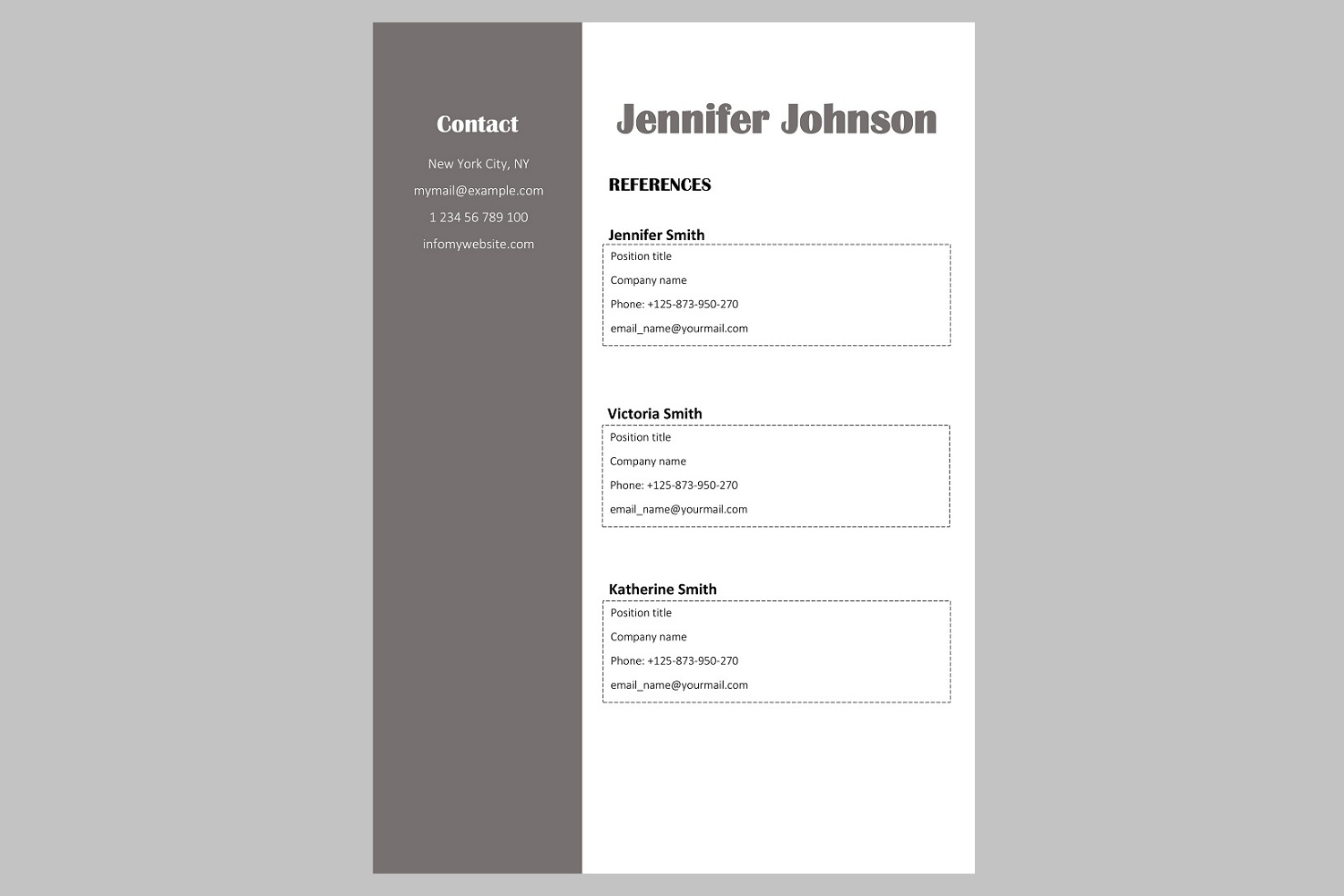 Creative resume template / CV. Bundle offer example image 9