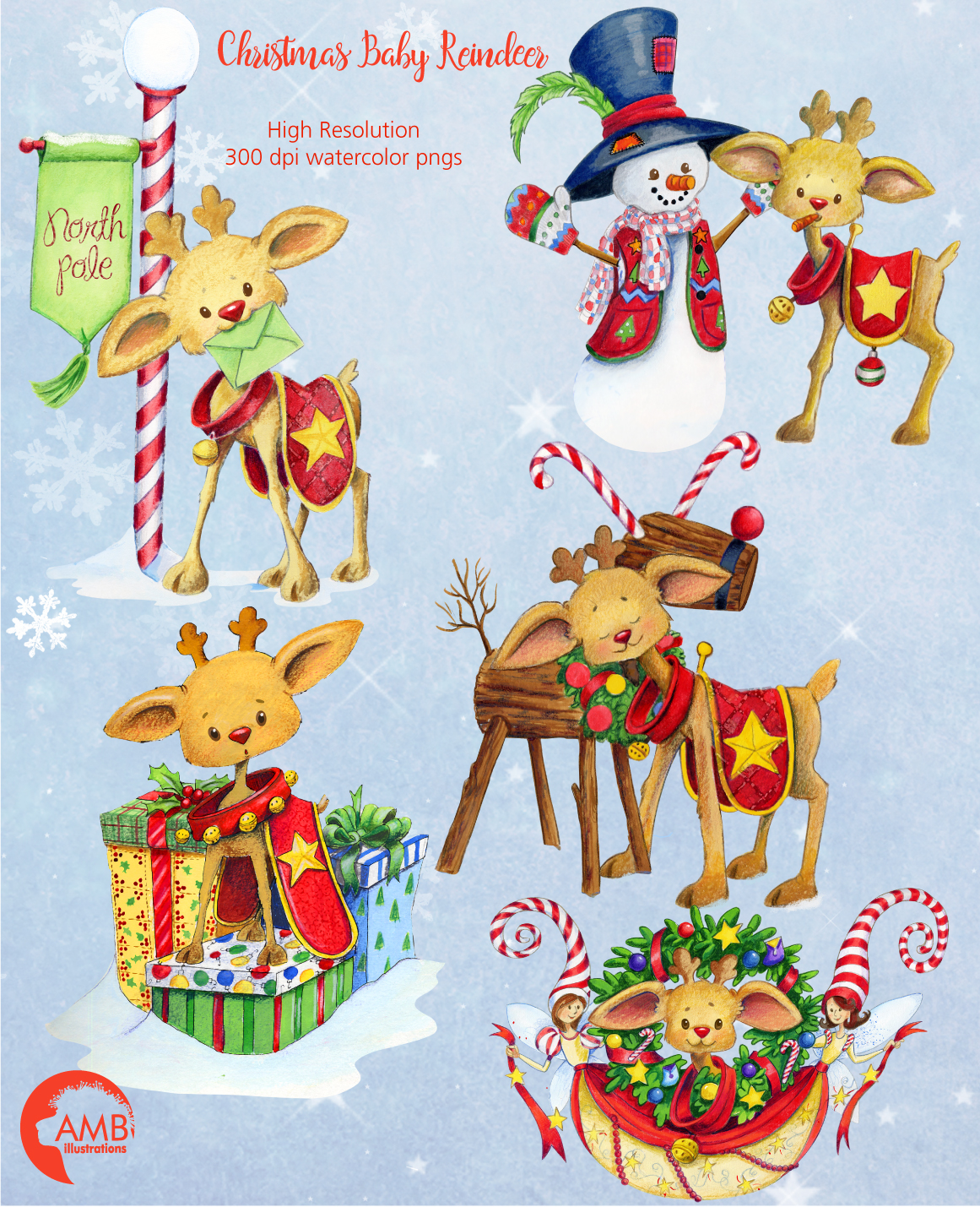 I love Christmas Bundle watercolor cliparts, graphics illustration AMB-1673 example image 6