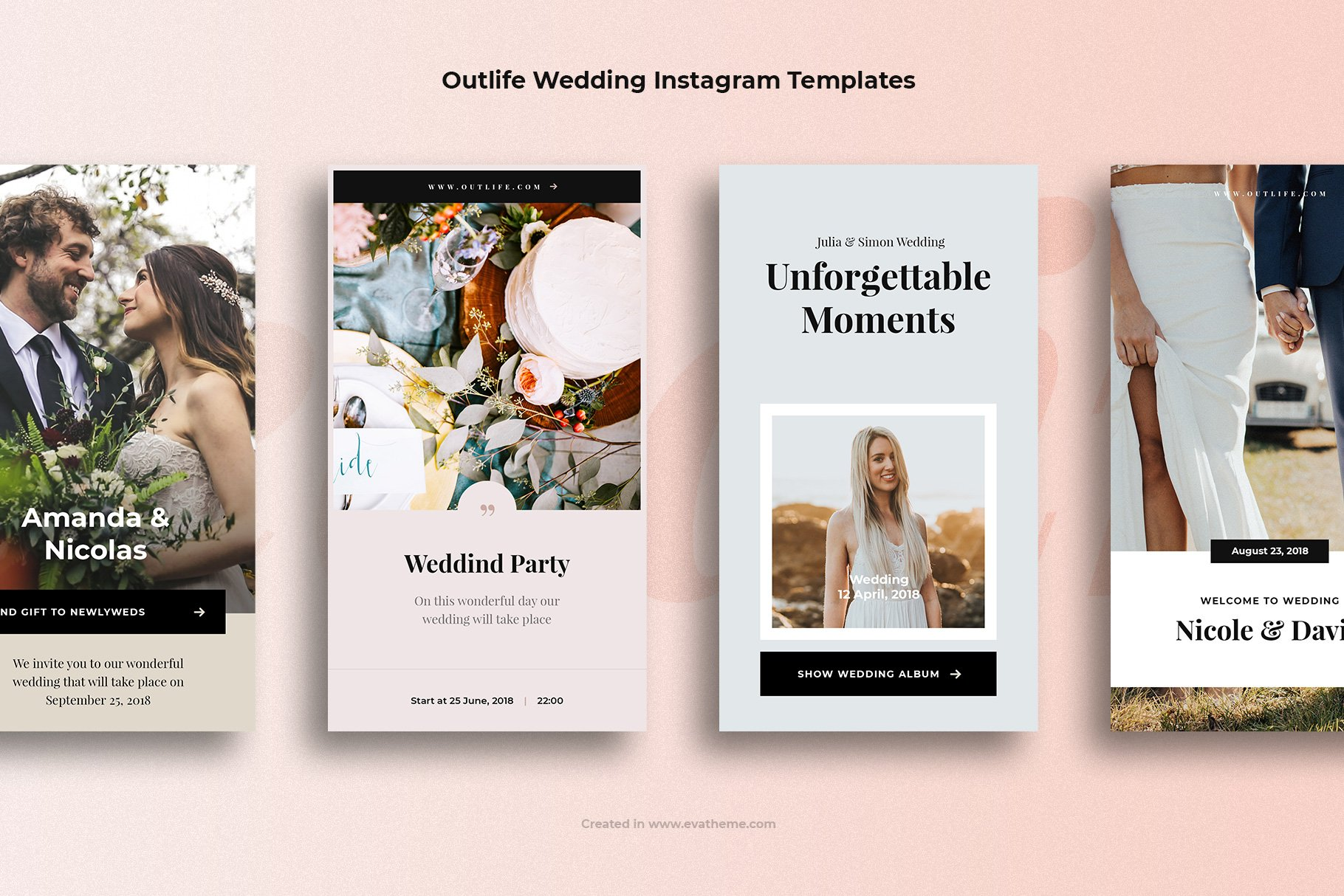 Outlife Wedding Instagram Templates example image 2