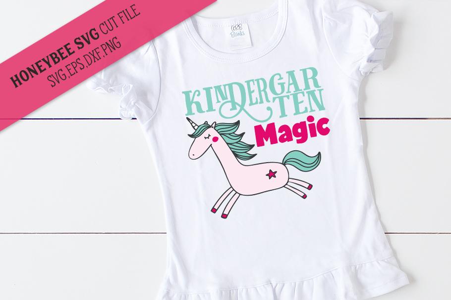 Kindergarten Magic Unicorn SVG Cut File example image 1