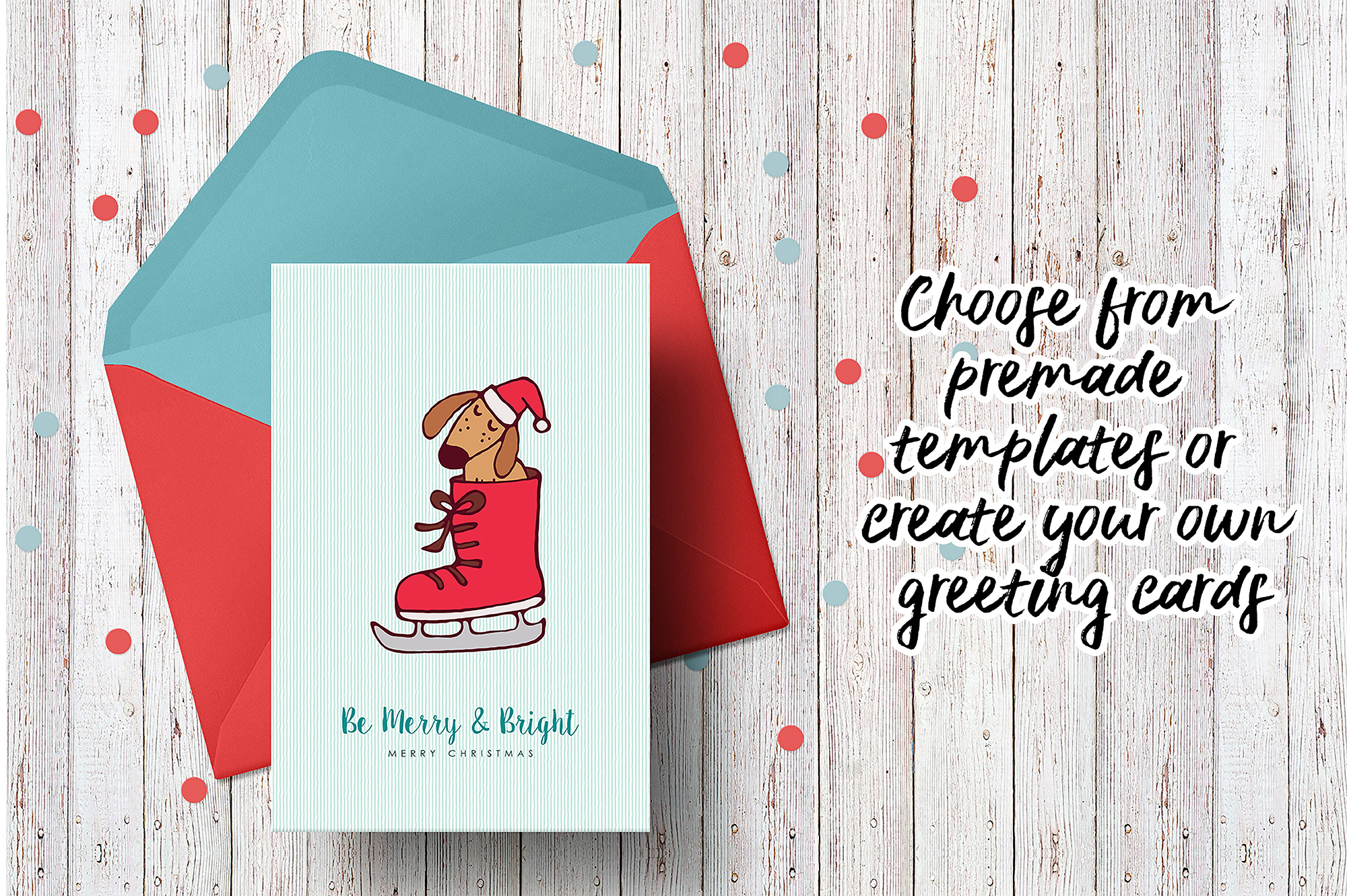 Sweet Christmas: hand drawn set with cute animals example image 13