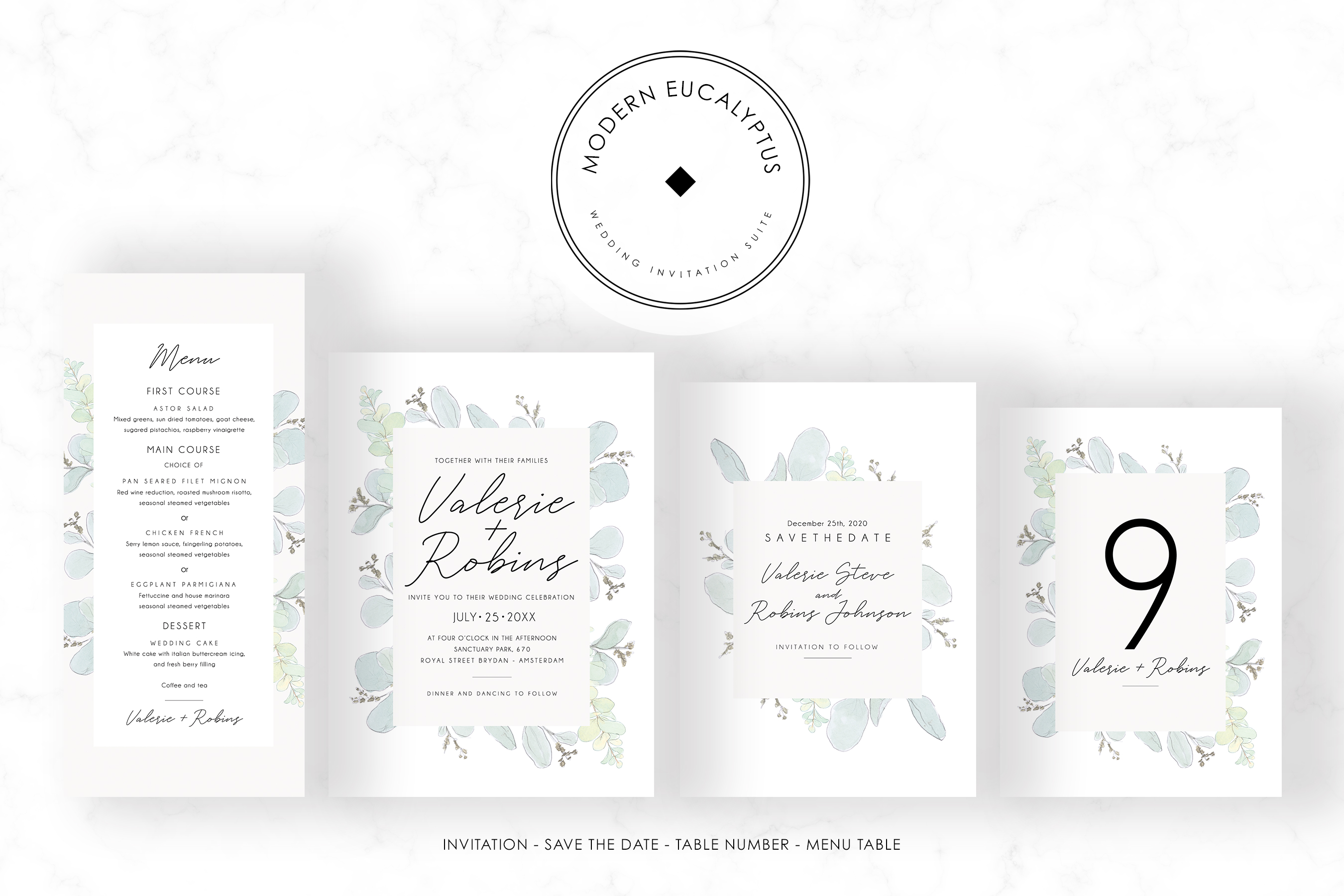 Modern Eucalyptus Wedding Suite example image 5