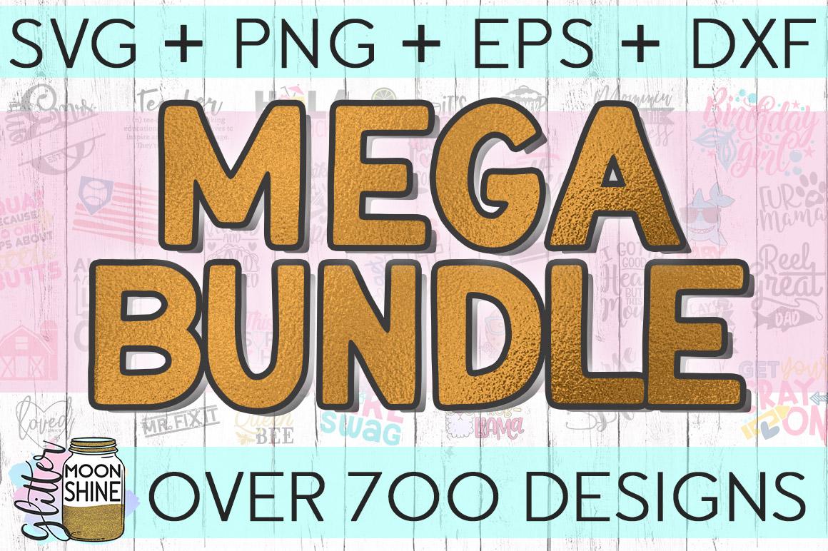 MEGA Bundle Over 700 SVG DXF PNG EPS Cutting Files example image 1