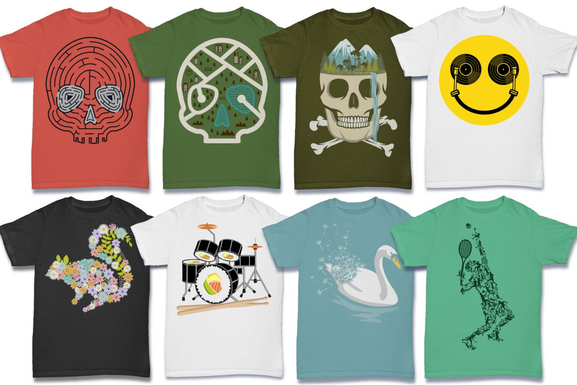 103 Tshirt Designs Mega Bundle example image 12