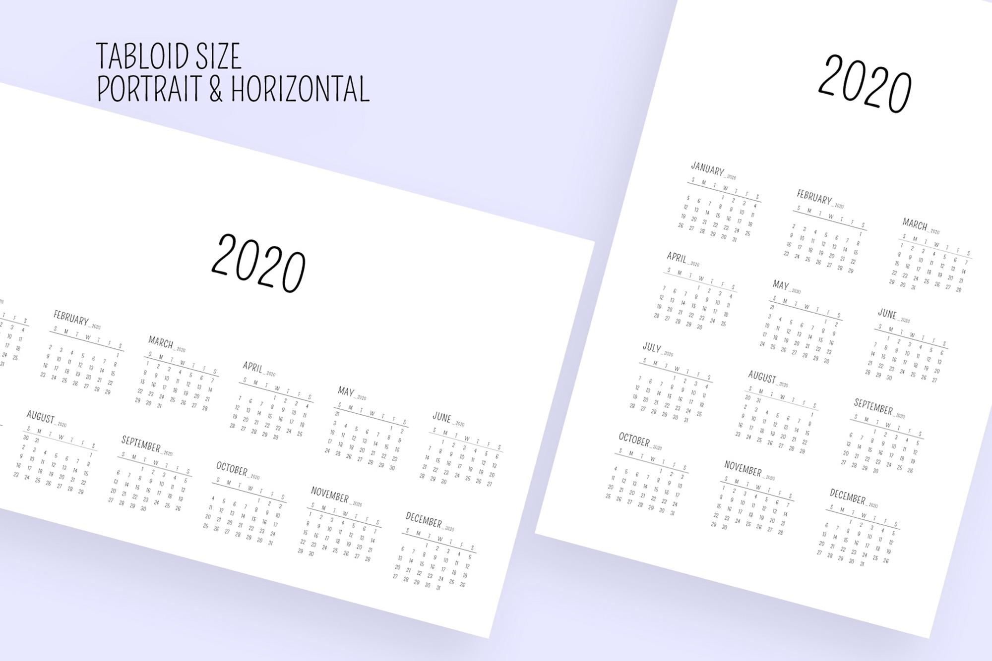 Minimal Calendar 2020 Template example image 7