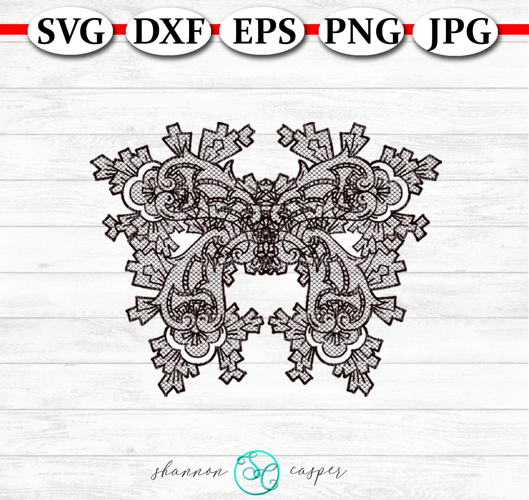 Lace Paisley Butterflies SVG Bunde example image 8