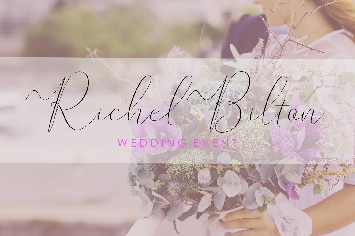 Rishella Signature Font example image 5
