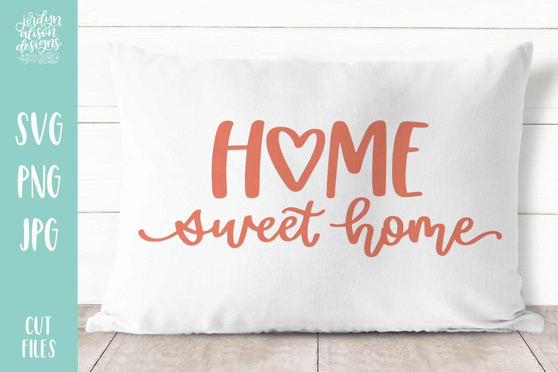 Home Sweet Home Heart, Hand Lettered SVG Cut File example image 2