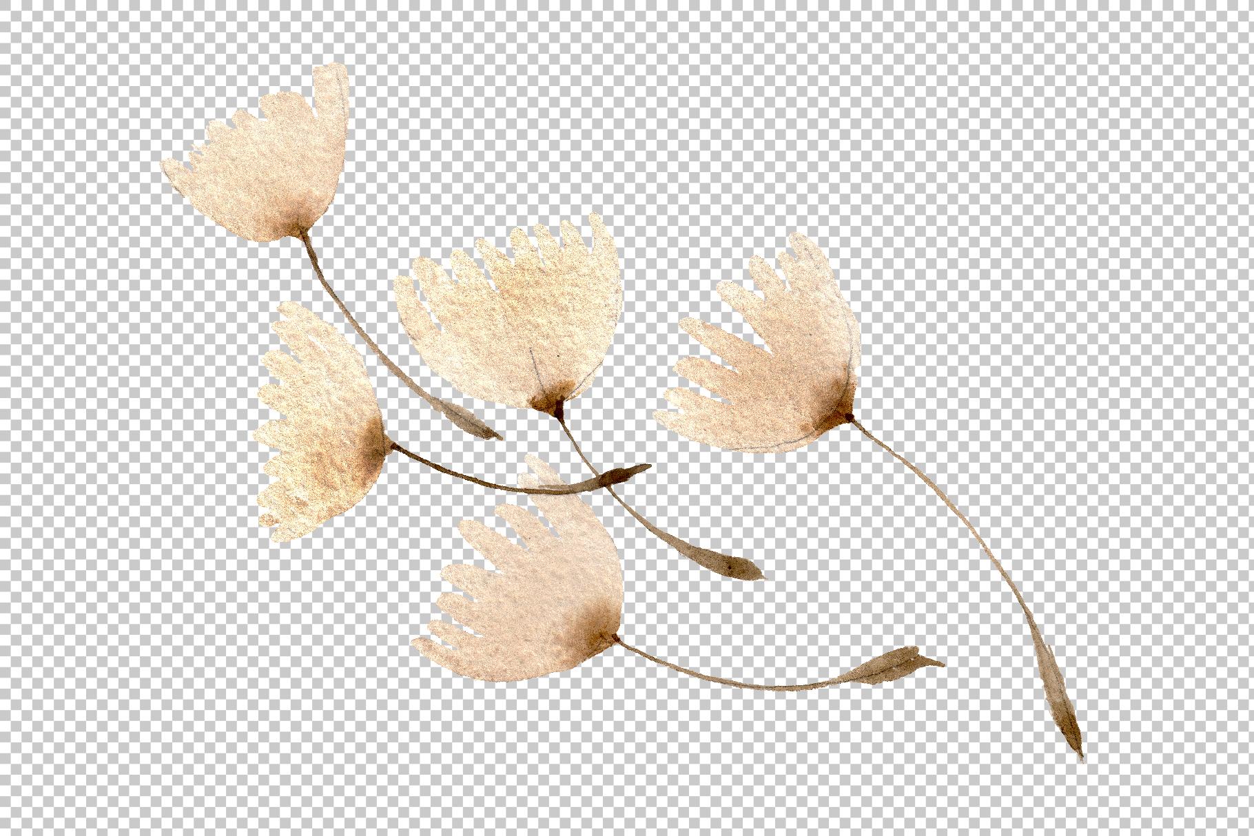 Dandelion Watercolor png example image 9