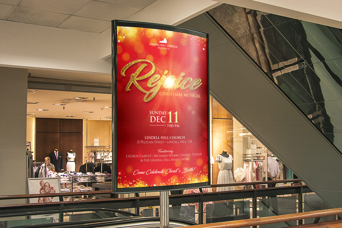 Rejoice Christmas Flyer Poster Template example image 3